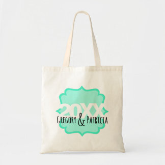 Fancy Teal with Custom Long Text II Tote Bag