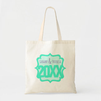 Fancy Teal with Custom Long Text Tote Bag