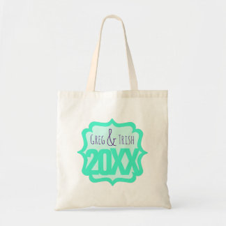 Fancy Teal with Custom Short Text Tote Bag