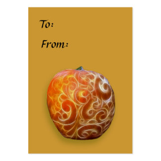 Fancy Thanksgiving Pumpkin Tag! Large Business Card