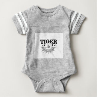 fancy tiger logo baby bodysuit