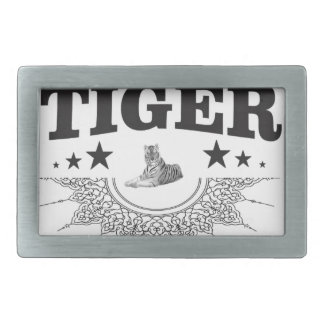 fancy tiger logo belt buckle