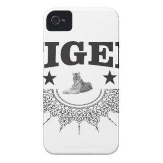 fancy tiger logo Case-Mate iPhone 4 case