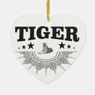 fancy tiger logo ceramic ornament