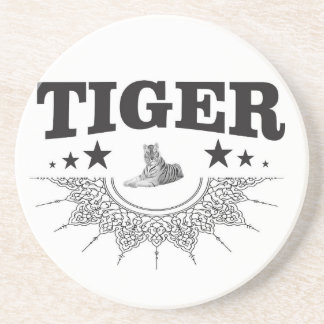 fancy tiger logo coaster