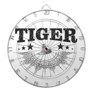 fancy tiger logo dartboard