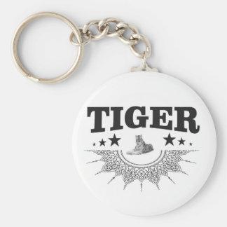 fancy tiger logo keychain