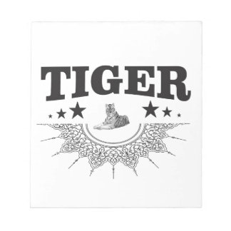 fancy tiger logo notepad