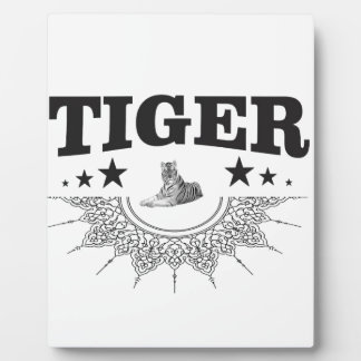 fancy tiger logo plaque