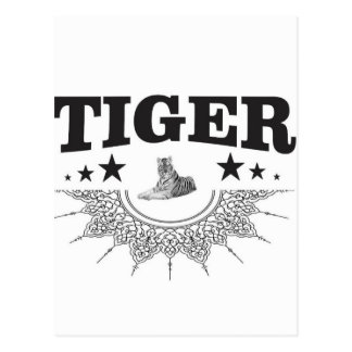 fancy tiger logo postcard