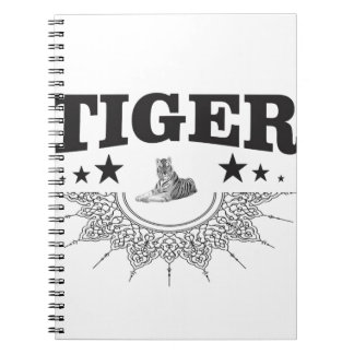 fancy tiger logo spiral notebook