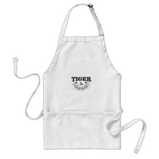 fancy tiger logo standard apron