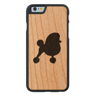 Fancy Toy Poodle Silhouette Carved Cherry iPhone 6 Case