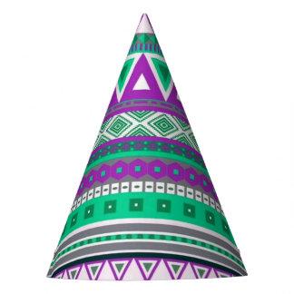 fancy tribal border pattern 08 (I) Party Hat