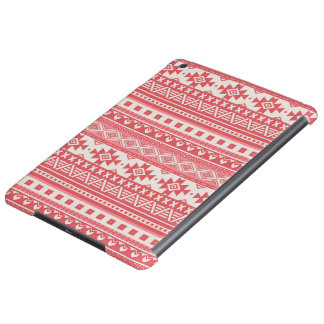 fancy tribal border pattern 08 red (I) Cover For iPad Air