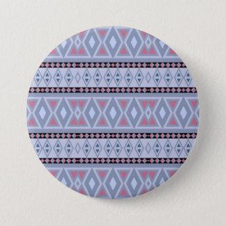 Fancy tribal border pattern 3 inch round button