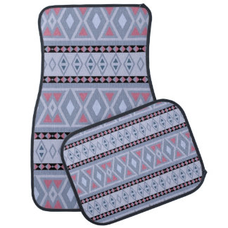 Fancy tribal border pattern car mat