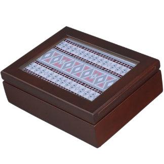 Fancy tribal border pattern keepsake box