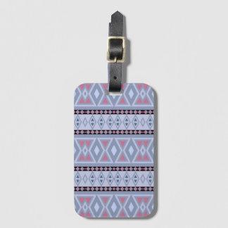 Fancy tribal border pattern luggage tag