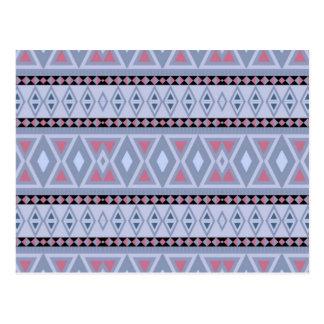 Fancy tribal border pattern postcard