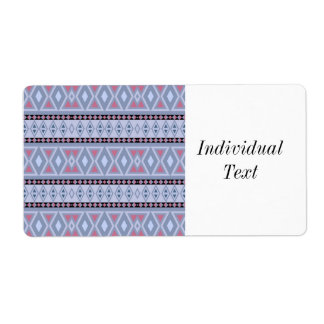 Fancy tribal border pattern shipping label