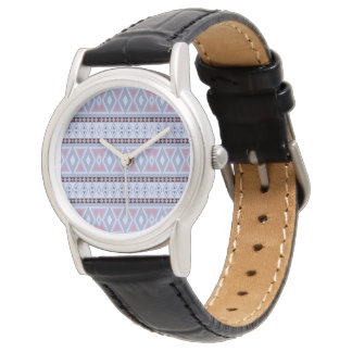 Fancy tribal border pattern watch