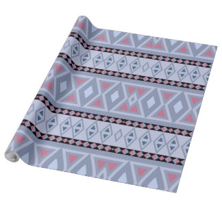 Fancy tribal border pattern wrapping paper