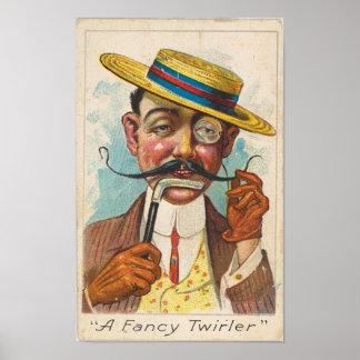 Fancy Twirler Poster