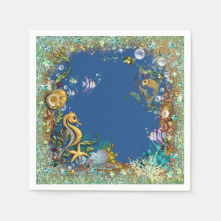 Fancy Under The Sea Disposable Napkins