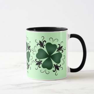 Fancy victorian shamrock mug