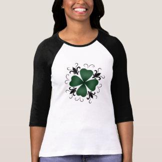 Fancy victorian shamrock St Patricks Day Tee Shirt