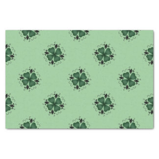Fancy Victorian shamrock Tissue Paper
