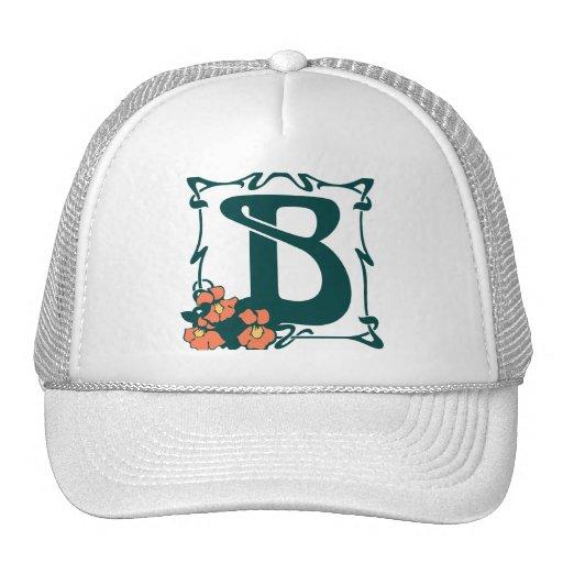 Fancy vintage art nouveau letter B Trucker Hats