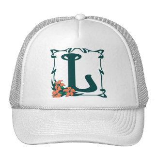 Fancy vintage art nouveau letter L Hats