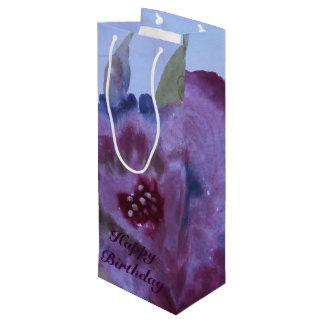 Fancy Watercolor Rose Floral Wine Gift-bag Wine Gift Bag