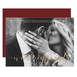 Fancy Wedding Photo Engagement Announcement