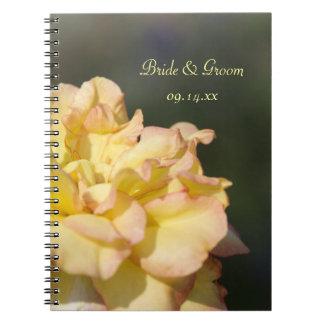 Fancy Yellow Rose Wedding Notebooks