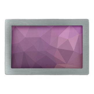 Fandango Lavender Abstract Low Polygon Background Rectangular Belt Buckle