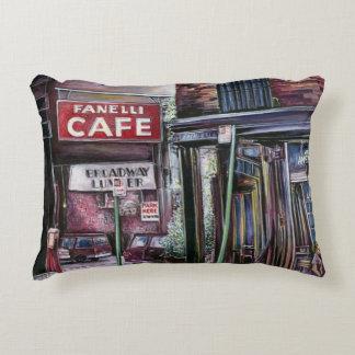 Fanelli's Charm, New York City, Soho, New York Accent Pillow