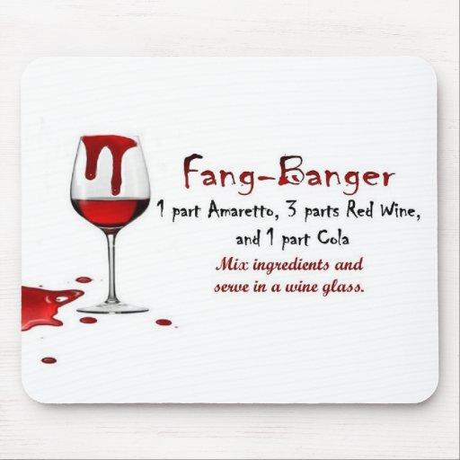 Fang-Banger Drink Recipe Mousepad