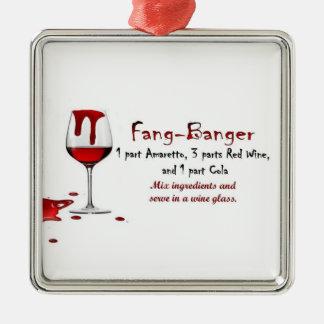 fang-banger drink recipe ornament