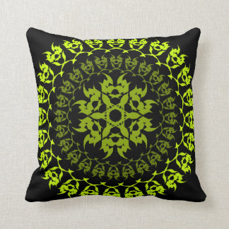 fang green circle throw pillow