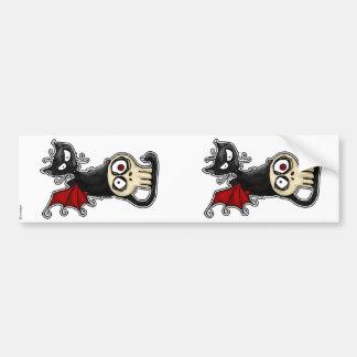 fang kitty scrapbooking stickers bumper sticker