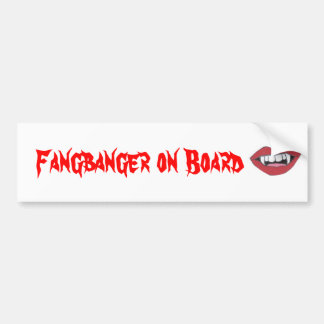 Fangbanger à bord autocollant de voiture