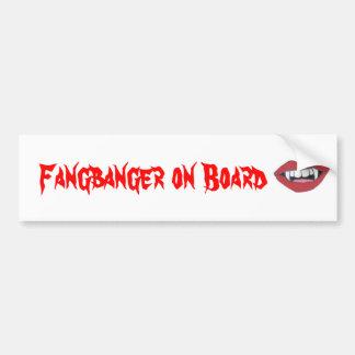 Fangbanger on Board Bumper Sticker
