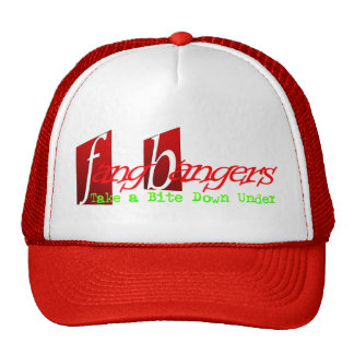 Fangbangers Take a Bite Down Under Cap Trucker Hat