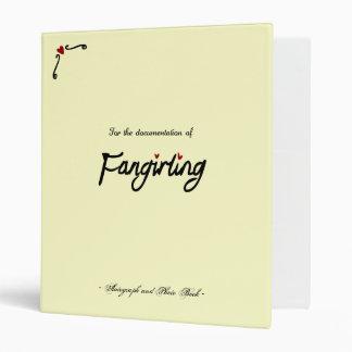 Fangirling Book 3 Ring Binder