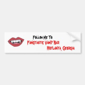 Fangtastic Vamp Bar Bumper Sticker