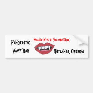 Fangtastic Vamp Bar Bumper Stickers
