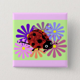 Fanny the Ladybug button
